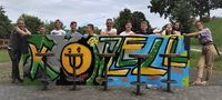 Graffiti-workshop Gruppenfoto